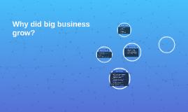 Why did big business grow?