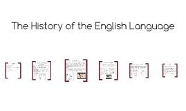 Copy of The History English Language