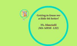 Ms. Masciulli