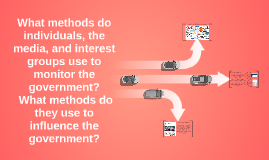 What methods do individuals, the media, and interest groups