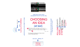 Choosing an Idea...