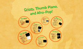 The Griots, Thumb Piano, and Afro-Pop!