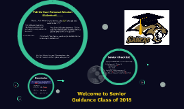 Copy of Welcome to Senior Guidance Class of 2018
