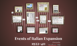 Events of Italian Expansion