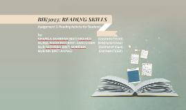 BIK3023: READING SKILLS
