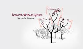 RM Lecture VI: Nonreactive Measures