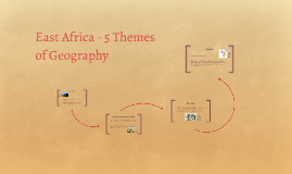East Africa - 5 Themes of Geography