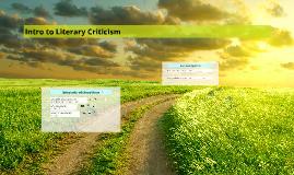 Intro to Literary Criticism - 1302 Sp 2016