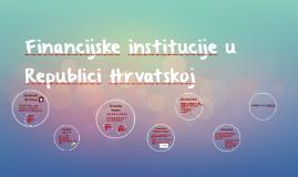 Financijske institucije u