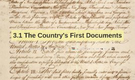 3.1 The Country's First Documents