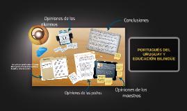 PORTUGUÉS DEL URUGUAY Y EDUCACIÓN BILINGÜE