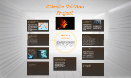 Science volcano project