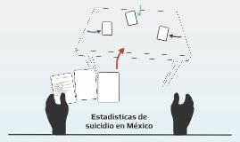 Estadísticas de suicidio en México