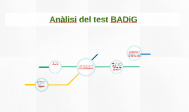 Anàlisi del test BADiG