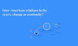 Inter-American relations
