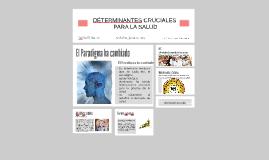DETERMINANTES CRUCIALES PARA LA SALUD