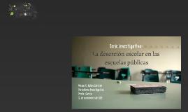 Copy of La deserción escolar en las escuelas públicas de PR