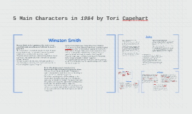 5 Main Characters in 1984 by Tori Capehart