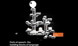 Parts of speech- the building blocks of language