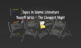 Topics In Islamic Literature