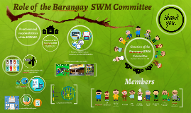 Role of  the Barangay  SWM Committee