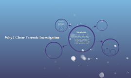 Why I Chose Forensic Investigation