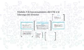 Módulo 4 El funcionamiento del CTE y el liderazgo del direct