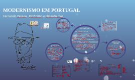 Modernismo Português Fernando Pessoa
