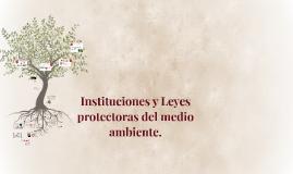 Instituciones y Leyes protectoras del medio ambiente.