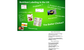 Nutrition Labeling in the US