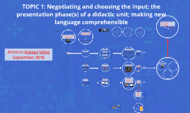 TOPIC 1: Negotiating and choosing the input: the presentatio