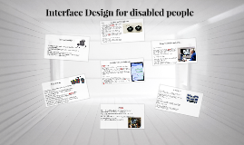 Interface Design for disabled people