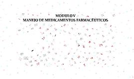 MANEJO DE MEDICAMENTOS FARMACÉUTICOS