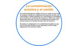 La contaminación acústica y el sonido.