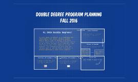 Double Degree Program Planning