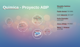 Quimica - Proyecto ABP