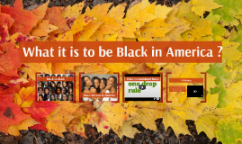 What it is to be Black in America ?