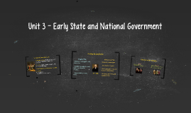 Unit 3 - Early State and National Government
