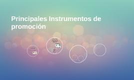 Principales Instrumentos de promoción