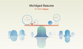 Andrew Binetter - Abridged Resume