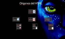 Origenes del HTML