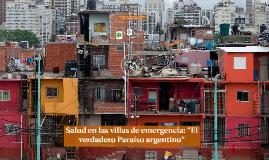 Salud en las villas de emergencia