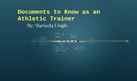 Documents to Know as an Athletic Trainer