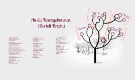 Copy of An die Nachgeborenen Bertolt Brecht