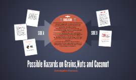 Possible Hazards on Grains,Nuts and Coconut