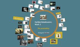 Harlem Renaissance, Week 3