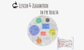 Lutein & Zeaxanthin