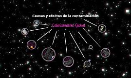 Causas y efectos de la contaminacion (calentamiento globla)