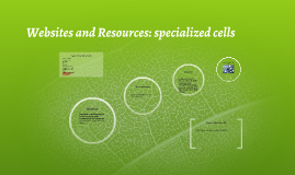 Websites and Resources: specialized cells