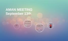 AMAN Meeting 13th Sept